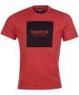 Men's Barbour International Block Tee - ROOT RED