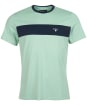 Men's Barbour Seaford Panel Tee - Faded Apple