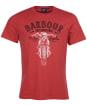 Men's Barbour International Motorbike Tee - Root Red