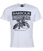 Men's Barbour International Archive Checkers Tee - White