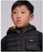 Boy's Barbour International Ouston Hooded Gilet - Black