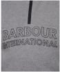 Boy's Barbour International Halt Half Zip Sweat - Grey Marl