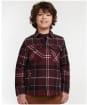 Boy's Barbour Tartan Overshirt, 10-14yrs - Winter Red Tartan