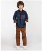 Boy's Barbour Tartan Overshirt, 10-14yrs - Midnight Tartan