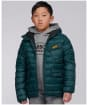 Boy's Barbour International Ouston Hooded Quilted Jacket, 6-9yrs - Benzine
