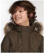 Boy's Barbour Holburn Quilted Jacket - Olive
