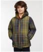 Boy's Barbour Hike Quilted Jacket - Uniform Olive