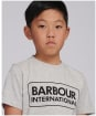 Boy's Barbour International Essential Large Logo Tee, 10-15yrs - New Grey Marl