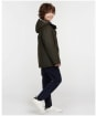 Boy's Barbour Hooded Beaufort Wax Jacket - Olive