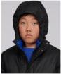 Boy's Barbour International Terrance Winter Waxed Jacket - Black