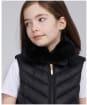 Girl's Barbour International Simoncelli Gilet - Black