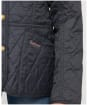 Girl's Barbour Printed Summer Liddesdale Quilted Jacket – 10-15yrs - NAVY/FUCHS SECR