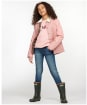 Girl's Barbour Printed Summer Liddesdale Quilted Jacket – 10-15yrs - PINK/FUCHS SECR