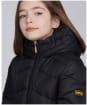 Girl's Barbour International Montegi Quilt - Black