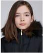 Girl's Barbour International Tampere Quilted Jacket - Black