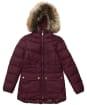 Girl's Barbour International Tampere Quilted Jacket - Merlot