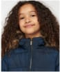 Girl's Barbour Bayside Quilted Jacket - Navy