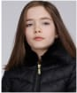 Girl's Barbour International Sportsman Quilted Jacket - Black