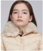 Girl's Barbour International Sportsman Quilted Jacket - Champagne