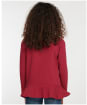 Girl's Barbour Rebecca Frill L/S Tee - Beet Red