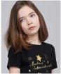 Girl's Barbour International Charade Tee - Black