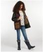 Girl's Barbour Hooded Beadnell Wax Jacket – 6-9yrs - FERN/BORDX/SAND