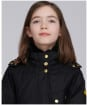 Girl's Barbour International Charade Waxed Jacket - Black