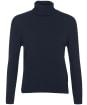 Women's Barbour Pendle Roll Collar Sweater - NAVY/HESSIAN
