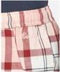 Women's Barbour Nancy PJ Trousers - Red / Pink Tartan
