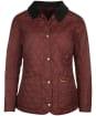 Women's Barbour Annandale Quilted Jacket - Dark Plum