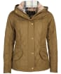 Women's Barbour Millfire Quilted Jacket - OLIVE/HESSIAN