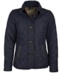 Women's Barbour Forth Quilted Jacket - DK NAVY/HESSIAN