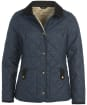Women's Barbour Snowhill Quilted Jacket - Navy