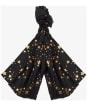 Women's Barbour International Mildred Foil Print Wrap - Black / Gold