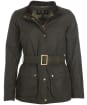 Women's Barbour Montgomery Waxed Jacket - Olive