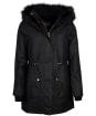 Women's Barbour International Picard Waxed Jacket - Black