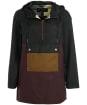 Women's Barbour Dovestone Wax Jacket - Bordeaux / Sage / Sand