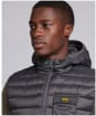 Men's Barbour International Ousten Hooded Gilet - Charcoal