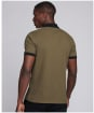Men's Barbour International Transmission Zip Polo Shirt - DUSKY KHAKI