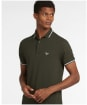 Men's Barbour Farlane Tipped Polo Shirt - Forest