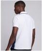 Men's Barbour International Accelerator Block Polo Shirt - White