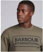Men's Barbour International Large Logo Sweater - DUSKY KHAKI