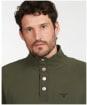 Men's Barbour Half Zip Sweater - Dark Olive