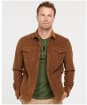 Men's Barbour Cord Overshirt - FRENCH SANDSTON