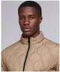Men's Barbour International Accelerator Race Quilted Jacket - Sand