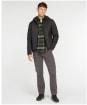 Men's Barbour Hooded Quilted Jacket - Black