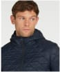Men's Barbour Hooded Quilted Jacket - Navy