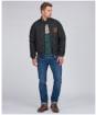 Men's Barbour International Steve McQueen Quilted Merchant Jacket - Black