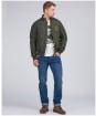 Men's Barbour International Steve McQueen Quilted Merchant Jacket - Sage