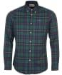 Men's Barbour Crossfell Tailored Shirt - Green Check